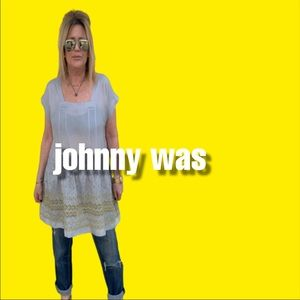 Johnny Was Embroidered Silk Tunic